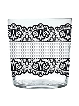Enjoy Home Set Vaso 6 Uds. Pizzo 37 cl Transparente/Antracita
