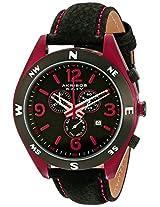 Akribos XXIV Men's AK582RD Conqueror Swiss Quartz Chronograph Leather Strap Watch
