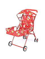 Taaza Garam Pram Stroller 2 positions sitting & lying - red