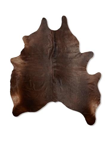 Shaped Hide Dark Brown Rug 4, 7' x 6'