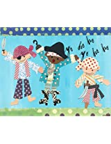 Oopsy daisy Pirate Boys Stretched Canvas Wall Art by Winborg Sisters, 30 by 24-Inch