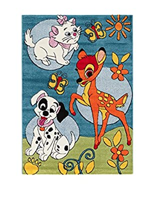 Disney Teppich Disney Premium Bambi himmelblau/grün/mehrfarbig 100 x 150 cm