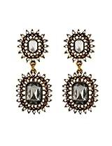 Aaishwarya Glamourous Antique Gold Earring