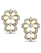 Avsar Real Gold and Diamond Kashmir Earrings AVE173