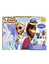 Disney Frozen 7 Wood Puzzles Toy For Kids Age 3+