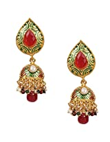 Ethnic Indian Bollywood Jewelry Set Traditional Fashion Pearl EarringsISREA038MG