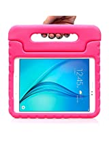 Samsung Galaxy Tab A 9.7 Case - i-Blason ArmorBox Kido Series Light Weight Super Protection Convertible Stand Cover Case 2015 Release (Blue) (Pink)