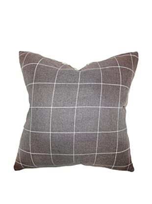 The Pillow Collection Ivo Plaid Pillow, Brown
