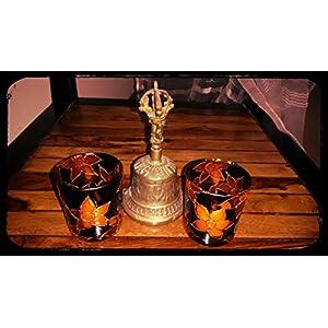 Hued Black And Orange Candle Holder