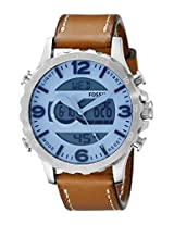 Fossil Mens JR1492 Nate Analog-Digital Display Analog Quartz Brown Watch
