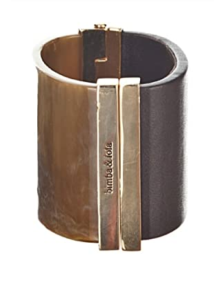 bimba & lola brazalete bicolor oro antiguo / marron
