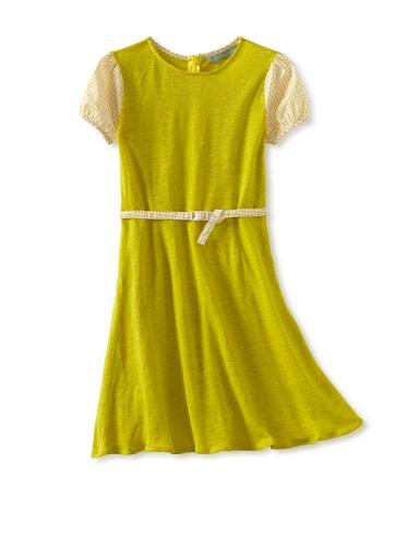 Zolima Girl's Belted Dress (Lemon)