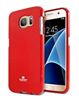 Galaxy S7 Case, [Special Promo Price] Goospery® Pearl Jelly Case [Pearl Glitter] Premium TPU Case Cover [Anti-Yellowing / Discoloring Finish] for Samsung Galaxy S7 - Red