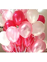 GrandShop 50285 Balloons Metallic HD Red, White & Pink (Pack of 50)