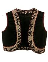 The Sewing Machine Black Cream Cotton Jacket