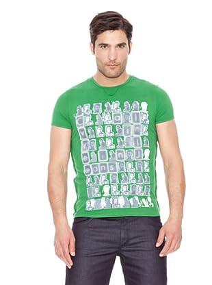 Calvin Klein Jeans Camiseta Vintage Cuello Redondo M / C (Verde)