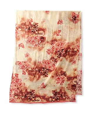 Ted Baker Women's Hive Silk Scarf, Coral, One Size