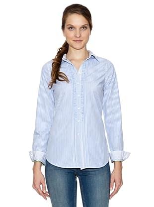 Tommy Hilfiger Camisa Fellow Stp Ruffle Shirt Ls (Azul Cielo)