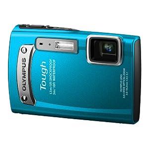 OLYMPUS デジタルカメラ TG-320 ブルー 3m防水 1.5m耐落下衝撃 -10℃耐低温 1400万画素 光学3.6倍ズーム DUAL IS ハイビジョンムービー 2.7型LCD 広角28mm 3Dフォト機能 TG-320 BLU