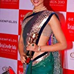 Deepika bollywood replica green net saree abbc