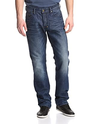 PRPS Goods & Co. Men's Barracuda Straight Leg Baked Resin Jean (Medium Wash)
