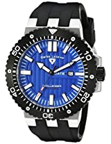Swiss Legend Men's 10126-03-BB Challenger Blue Patterned Dial Black Silicone Watch