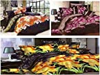 Zolo Combo of 3 Designer 3D Double Bedsheets With Pillow Covers zcn1003