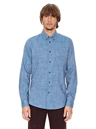 Ben Shermann Camisa Geométrico Owen (Azul)