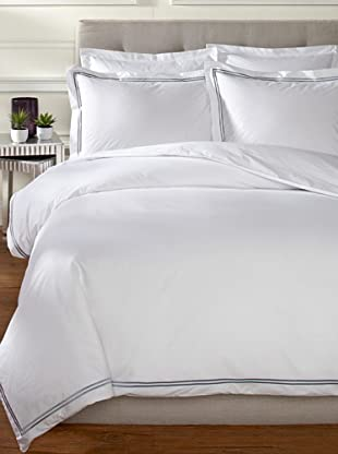Mason Street Textiles Two Cord Duvet Set (White/Grey)
