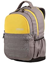 American Tourister Code Grey and Yellow Casual Backpack (10W (0) 82 009)