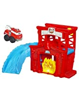 Tonka Chuck Mini Fold N Go - Fire Station Splash