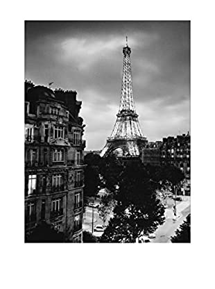 Artopweb Panel de Madera Eiffel Tour Evening