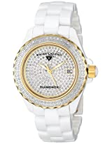 Swiss Legend Watches, Women's Karamica White 341 Diamonds (2.98 ctw) Pave Dial White High-Tech Ceramic, Model 20052-WWTG