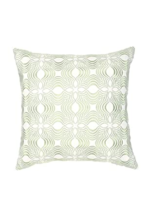 Image by Charlie Dynasty Decorative Pillow, White/Seamist Green, 18