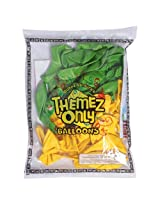 Themez Only Mettalic Finish Balloon Suitable for Jungle Theme, Multi Color