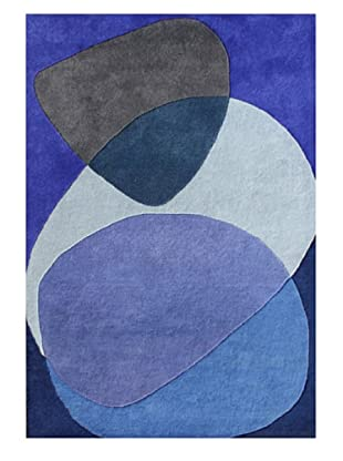 Alliyah Rugs New Zealand Wool Rug (Blue Multi/Persian Jewel)