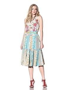 Gregory Parkinson Women's Silk Cotton Voile Skirt (Jade)