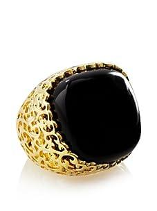 Courtney Kaye Onyx Femme Fatale Filigree Ring, Gold