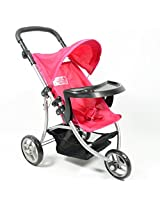 Baby Doll Jogging Stroller with Adjustable Handle for Ages 2+