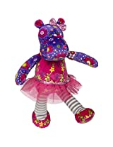 Mary Meyer Print Pizzazz Twinkle Toes Hippo Plush Toy