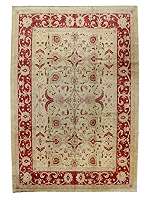 Bashian Rugs Hand Knotted One-of-a-Kind Mansehra Rug, Ivory, 10' x 14' 2