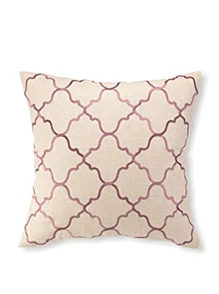 D.L Rhein Moroccan Tile Embroidery Pillow, Orchid, 20