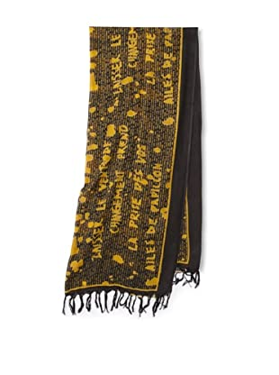 Raj Imports Women's Graffiti Scarf (Black/yellow)