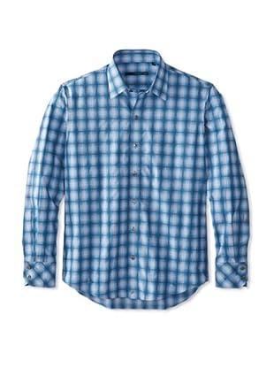 Zachary Prell Men's Leeds Checked Long Sleeve Shirt (Light Blue)
