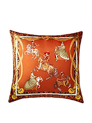 Lowe Royals Scarf Pillow, Cognac/Multi