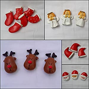 PinkFeather Christmas Collection Magnets - Set Of 5