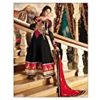 Annona Black Georgette Anarkali Suit with Dupatta 9465
