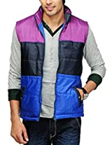 Yepme Men's Polyester Jacket (YPMJACKT0037_Multi-Coloured_Large)