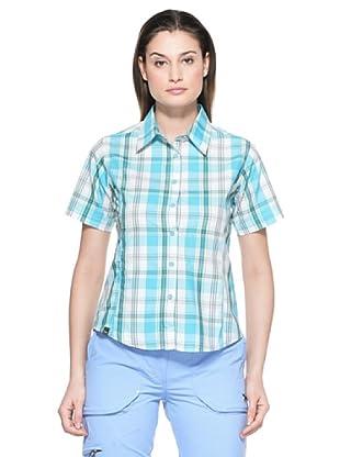 Salewa Camisa Hannah Dry W (Azul Cielo / Blanco)