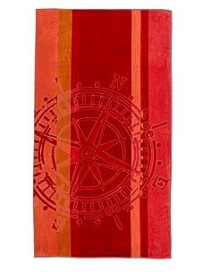 "Arkhipelagos Wheel Beach Towel, Red, 39"" x 73"""